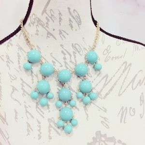 Jewelry - Mint Green GoldTone Bubble Statement Necklace